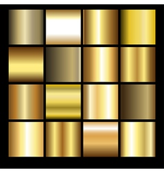 Gold gradients vector