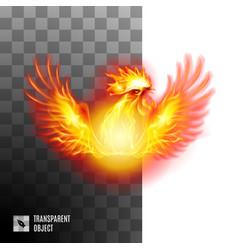 Golden rooster on transparent background symbol vector