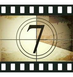 Grunge film countdown vector image