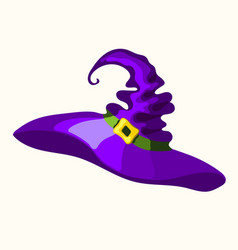 Halloween purple old magic witch hat vector