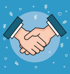 Hands symbol peace hands man handshaking vector