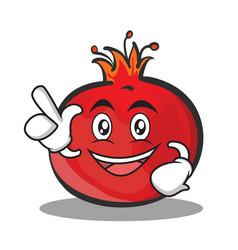 Have an idea pomegranate cartoon character style vector