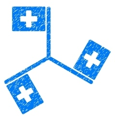 Hospital flags grainy texture icon vector