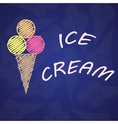 Ice cream blue vector image