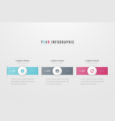 Infographic concept design with 3 options vector