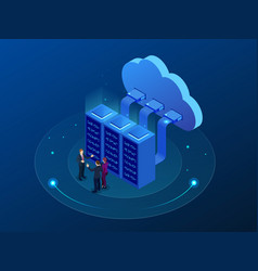 isometric cloud computing concept isometric cloud vector image