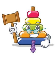Judge pyramid ring character cartoon vector