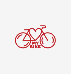 Love my bike label vector