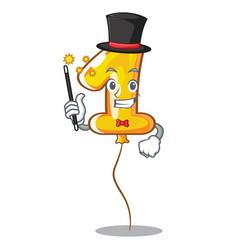 Magician number one balloon stickto cartoon door vector
