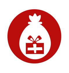 Merry christmas gifts bag vector