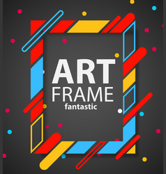 Modern hipsters frame for text dynamic geometric vector