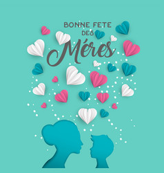 mother day french card for family holiday love vector image