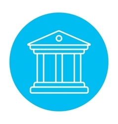 Museum line icon vector image