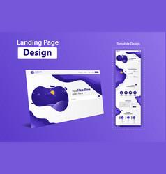 New trendy landing page website template design vector