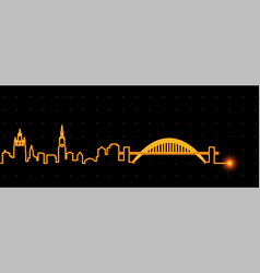 newcastle light streak skyline vector image