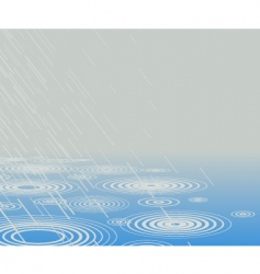 rain pool vector image
