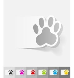 Realistic design element footprint vector