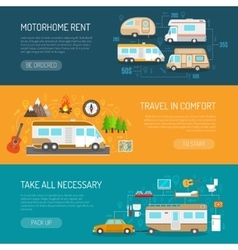 Recreational vehicle banners set vector