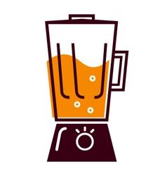 Retro kitchen blender vector image