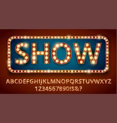 Retro light letters vector