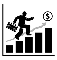Rich success man vector image