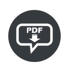 Round pdf download dialog icon vector image