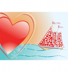sails of love vector image