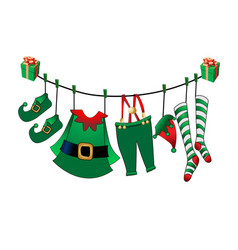 santa s assistant is his clothes vector image