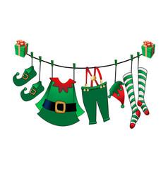 Santa s assistant is his clothes vector