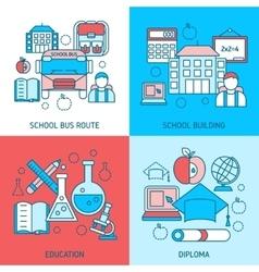 School Education Linear Compositions vector