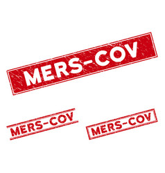 Scratched mers-cov rectangle watermarks vector