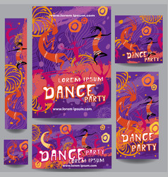set of party or festival poster vector image