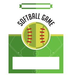 Softball Game Flyer vector image