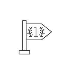 success line icon vector image