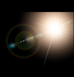 Sunlight special lens flare light effect vector