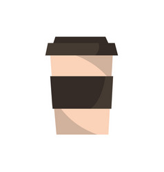 take away coffee office work icon vector image