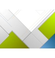 Tech minimal corporate flyer template vector image vector image
