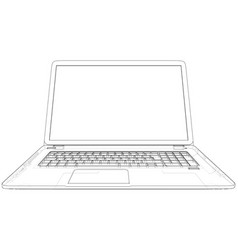technical with laptop drawing on the vector image