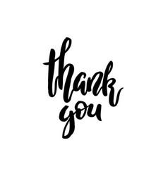 Thank you handwritten inscription lettering vector