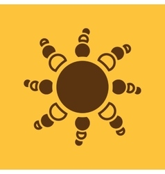 The weather icon Sunrise and sunshine weather vector image