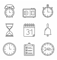 Time Line Icons vector image