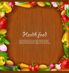 Vegetable health food background vector