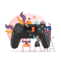 Video gaming technologies concept for web vector