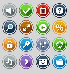 Web design round buttons set 2 vector