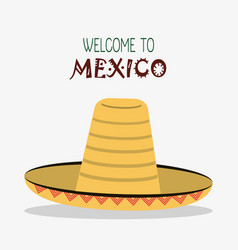 welcome to mexico destination tourism image vector image