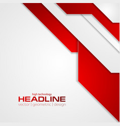 abstract red tech corporate flyer background vector image