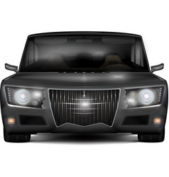 Modern dark silver car with retro design elements vector image