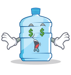 money eye gallon character cartoon style vector image