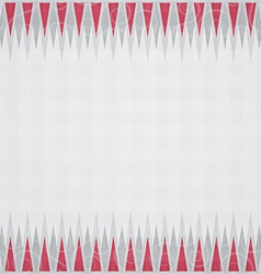 red triangles border seamless pattern vector image vector image