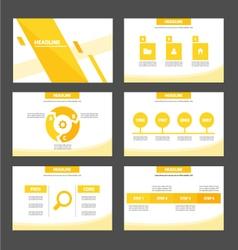 Yellow Orange presentation templates Infographic vector image vector image